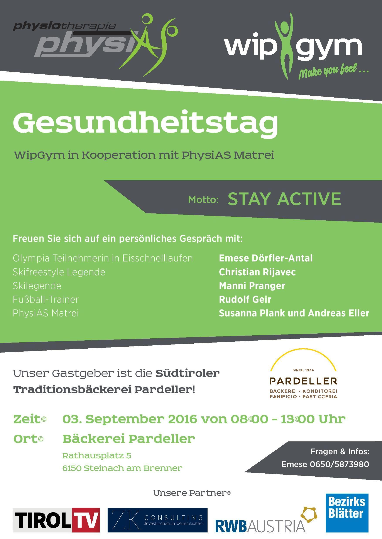 Gesundheitstag - Stay active